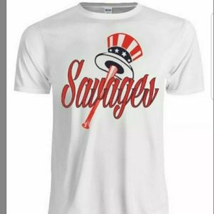 New York Yankees savages t shirt and face mask